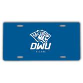 License Plate-DWU Tigers w/ Tiger Head