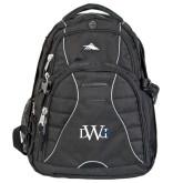 High Sierra Swerve Black Compu Backpack-University Mark