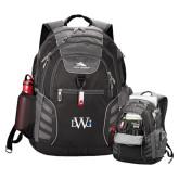 High Sierra Big Wig Black Compu Backpack-University Mark