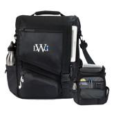 Momentum Black Computer Messenger Bag-University Mark