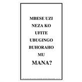 Kinyarwanda Trifold Tracts 75/pkg-