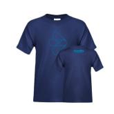 Youth Navy T Shirt-e3 Arrow Outline