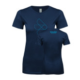 Next Level Ladies SoftStyle Junior Fitted Navy Tee-Go Global Flat