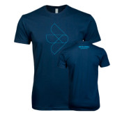 Next Level SoftStyle Navy T Shirt-Go Global Flat