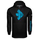 Under Armour Black Performance Sweats Team Hoodie-e3 Arrow