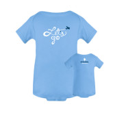 Light Blue Infant Onesie-Lets go