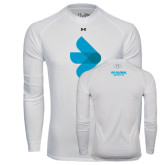 Under Armour White Long Sleeve Tech Tee-e3 Arrow