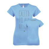 Ladies SoftStyle Junior Fitted Light Blue Tee-Called To All Nations