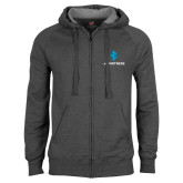 Charcoal Fleece Full Zip Hoodie-e3 Arrow Stacked