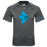 Under Armour Carbon Heather Tech Tee-e3 Arrow