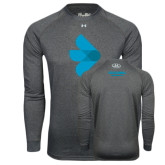 Under Armour Carbon Heather Long Sleeve Tech Tee-e3 Arrow