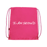 I Am Second Pink Drawstring Backpack-