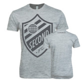 I Am Second Next Level SoftStyle Heather Grey T Shirt-Soccer Second Crest