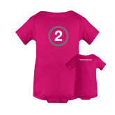 I Am Second Fuchsia Infant Onesie-2 Inside Circle