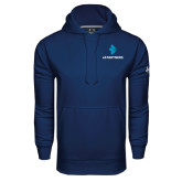 Under Armour Navy Performance Sweats Team Hoodie-e3 Arrow Stacked