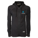 Ladies Under Armour Black Varsity Full Zip Hoodie-e3 Arrow Stacked