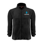 Fleece Full Zip Black Jacket-e3 Arrow Stacked