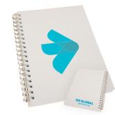 Clear 7 x 10 Spiral Journal Notebook-e3 Arrow