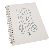 College Spiral Notebook w/Clear Coil-Called To All Nations