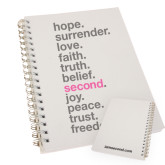 I Am Second Clear 7 x 10 Spiral Journal Notebook-Hope, Surrender, Love...