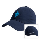 Navy Twill Unstructured Low Profile Hat-e3 Arrow