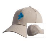 Khaki Twill Unstructured Low Profile Hat-e3 Arrow