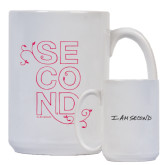 I Am Second Full Color White Mug 15oz-Floral Second