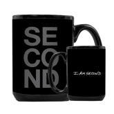 I Am Second Full Color Black Mug 15oz-Bold Graphic Second