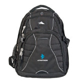 High Sierra Swerve Black Compu Backpack-e3 Arrow Stacked