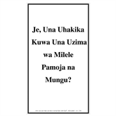 Swahili Trifold Tracts 75/pkg-