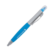 Blue/Silver Highlighter Twist Pen-