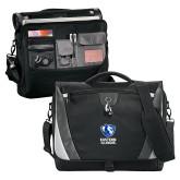 Slope Black/Grey Compu Messenger Bag-EIU Primary Logo