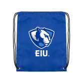Royal Drawstring Backpack-Eastern Illinois Secondary