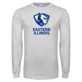 White Long Sleeve T Shirt-EIU Primary Logo