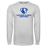 White Long Sleeve T Shirt-Eastern Illinois Panthers