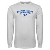 White Long Sleeve T Shirt-Collegiate Design