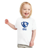 Toddler White T Shirt-Eastern Illinois Secondary