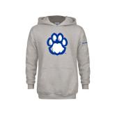 Youth Grey Fleece Hood-Panther Paw