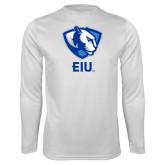 Performance White Longsleeve Shirt-Eastern Illinois Secondary