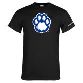 Black T Shirt-Panther Paw