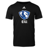 Adidas Black Logo T Shirt-Eastern Illinois Secondary