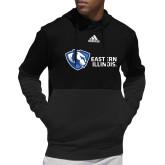 Adidas Black Team Issue Hoodie-EIU Primary Logo