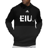 Adidas Black Team Issue Hoodie-Eastern Illinois Secondary
