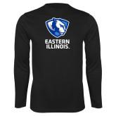 Performance Black Longsleeve Shirt-EIU Primary Logo
