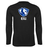 Performance Black Longsleeve Shirt-Eastern Illinois Secondary