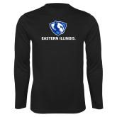 Performance Black Longsleeve Shirt-Eastern Illinois Logo