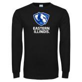 Black Long Sleeve T Shirt-EIU Primary Logo