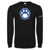 Black Long Sleeve T Shirt-Panther Paw