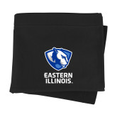Black Sweatshirt Blanket-EIU Primary Logo