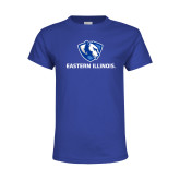 Youth Royal T Shirt-Eastern Illinois Logo